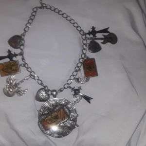 Vintage Necklace w/ Charms all around it